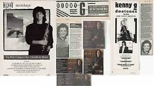 Kenny G : Cuttings Collection -adverts interview-