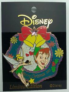 Disney M&P Noël 2003 Peter Pan & Tinker Bell à Glisser Broche Le