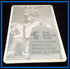 1979 NEW YORK GIANTS FIRST NATIONAL BANK FOOTBALL POCKET SCHEDULE FREE SHIPPING