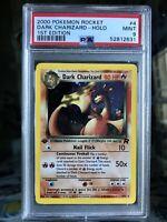 2000 Pokemon Card Team Rocket 1st Edition Holo Dark Charizard 4/82 PSA 9 MINT