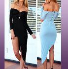 Vestido Mujer Elástica Atractivo Noche Chica Moda Hendedura Casual Ropa Fiesta