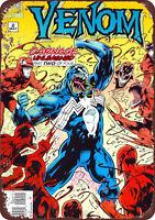 Venom Comic Book Wall Art Marvel Comics Vintage Reproduction Metal sign 8 x 12