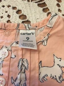Shirt For Baby Girl, Size 9 Months, Carter's Brand, Made In China