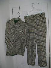 vintage Men's Leisure Suit Western Disco bell bottom pants