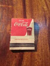 Coca cola matchbook matches vtg rare
