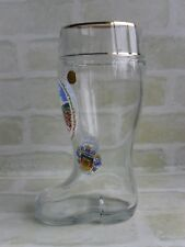 FREIBURG I.BRSG AUSTRIA - 1 LTR GLASS BOOT BEER STEIN - WS HAND MADE - RARE