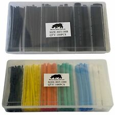 Heat Shrink Tubing 200 X Black Colour Heatshrink Kit 1 2 4 6 10 13mm Insluation