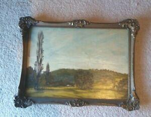 Breare- Trevor John Australian Landscape-Oil on Board-Ornate Frame-Signed-1970s