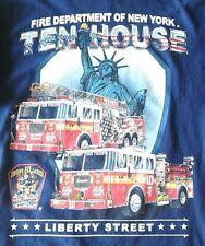 TEN HOUSE LIBERTY STREET, Dept of New York, Engine 10 Ladder NEW, Large Tee