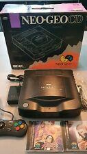 Console snk  Neo Geo CD Noir Jap+ 2 jeux ,Boxed , test ok