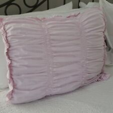 Simply Shabby Chic Pink Ruched Ruffled King Pillow Sham ONLY! Cotton