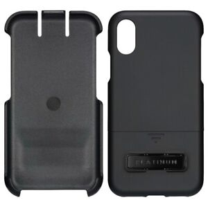 Platinum - Protective Case with Holster for Apple iPhone X and XS - Black