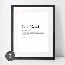 best friend definition - best friend personalised print - friend gift