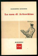 GAVAZZENI GIANANDREA LA CASA DI ARLECCHINO RICORDI 1957 MUSICA AUTOGRAFO