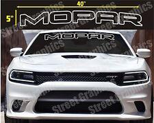 MOPAR TOP WINDSHIELD VINYL DECAL STICKER BANNER, CHARGER, CHALLENGER, RAM ETC.
