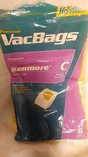 Kenmore Premium Vacuum Bags 8 BAGS  C Replaces No. 50558