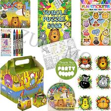 Childrens Jungle Pre Filled Party Bags Kids Birthday Gifts Favors