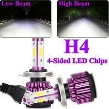 2018 New 4-Side H4 LED Headlight Car Bulb 300W 36000LM High/Low Dual Beam Bright