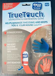TRUE TOUCH 2 Sided Red/Blue Deshedding Grooming /Lint Remover Hair As seen on TV