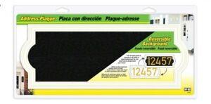 Hy-Ko AK-461 White Plastic Rectangle Address Plate