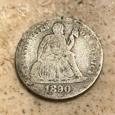 1890 Silver Philadelphia Mint Seated Liberty Dime NO RESERVE AUCTION!!