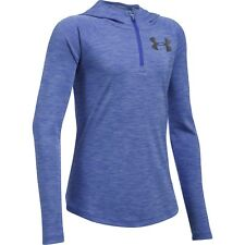 New w/ Tags UNDER ARMOUR Girls Youth XL Tech 1/4 Zip Printed Hoodie FREE SHIP