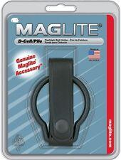 D-Cell MagLite Flashlight Leather Belt Holder - Genuine MagLite Item Made In USA