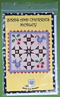 """Birds & Cherries Medley quilt pattern Mary Lou Designs 336 wall hanging 42 x 42"""""""