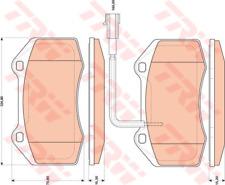 Brake Pad Set Disc Brake-TRW gdb1812