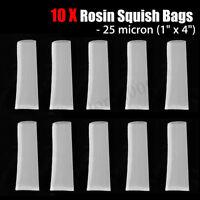 Rosin Tech Screen Bags 25 Micron 1'' x 4'' 10Pack Nylon Press Filter Extract Tea