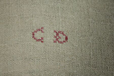 Large Antique Heavy Linen Towel Cd Hand Stitched Monogram