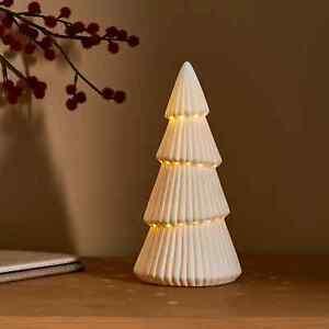 New Simplistic Design Light Up Ceramic Christmas Tree Home Decor M-21