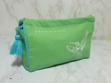 CHANTECAILLE GREEN CANVAS MAKEUP COSMETIC TRAVEL POUCH BAG 9**6*2.5 INCH