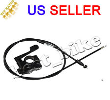 50-150cc Motorcycle Thumb Lever Throttle Accelerator Holder+Cable Assembly ATV