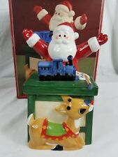 Lenox Ceramic Covered Candy Dish Rudolph The Red Nosed Reindeer christmas New