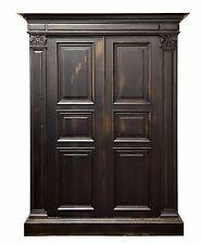 Antique Italian Style Old World 2 Door Armoire Wardrobe Media Cabinet