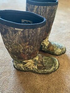 Bogs Mens Mossy Oak Camo Camouflage Boots Size 12 Classic High MT Hunting Tall
