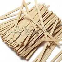 100X Wooden Coffee Tea Stirrers Mixers Craft Sticks/Paddle Pop Sticks Disposable