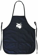 Drum Set Logo Cooking Apron With Pockets