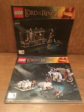 LEGO Lord of the Rings The Mines of Moria (9473) Instruction Manuals ONLY 1 & 2