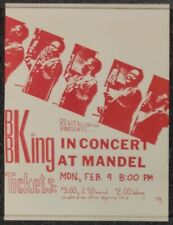 B.B. King 1970 CONCERT POSTER Madel Hall CHICAGO