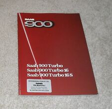 Saab 900 Brochure 1985-1986 - Turbo 16S - Turbo 16 - Turbo - Hatchback & Coupe