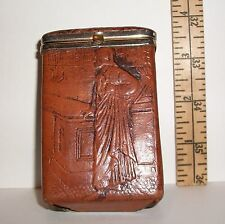 VINTAGE RELIGIOUS SPRING LOADED TOP CIGARETTE CASE AGE UNKNOWN VERY DETAILED
