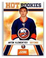 (HCW) 2010-11 Score Glossy #524 Anton Klementyev NY Islanders Mint
