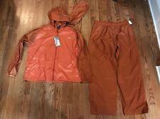 Old Harbor Outfitters OHO Fishing Rain Storm Jacket Pants Set XL Orange $129