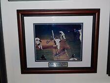 BILL BUCKNER & MOOKIE WILSON SIGNED 1986 WS FRAMED 8X10 PHOTO, STEINER COA