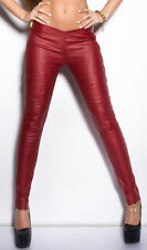 Ladies Sexy club skinny stretch Trousers Ladies wet leather look Leggings Pants
