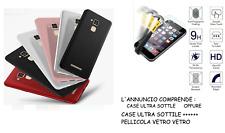Funda para Asus Zenfone 3 Max ZC520TL X008D Cover Suave Gel + Película Vidrio 9H