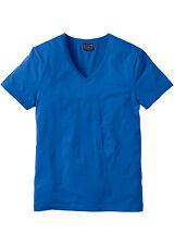 RAINBOW Camiseta hombre slim fit cuello pico Top Azul Celeste Talla 44/46 956910