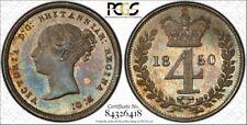 1850 Victoria Great Britain UK Maundy Set PCGS PL61 PL64 PL62 PL64 1 2 3 4 Pence
